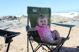paige - beach with Roberts's (28Apr2014) .1